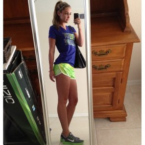 amateur photo Little Green Shorts
