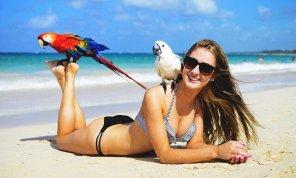 amateur photo PictureA girl enjoying the beach