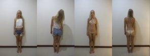 amateur photo Petite blonde undressed