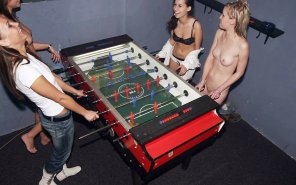 amateur photo Two Words: Strip Foosball