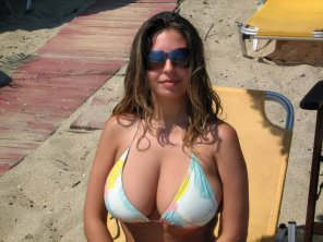 amateur photo Voluptuous Pair Hiding behind that bra