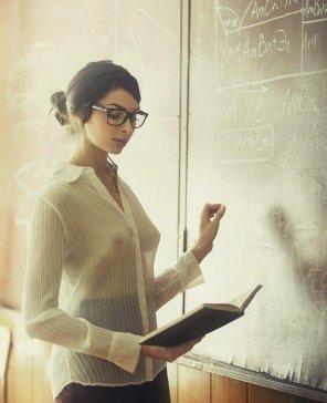 amateur photo Shy & Sexy School Teacher