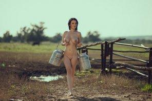 amateur photo Impressive milk cans