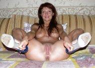 Grabbing her heels