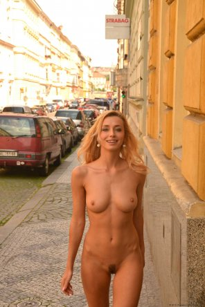 amateur photo Naked in the Streets of Prague