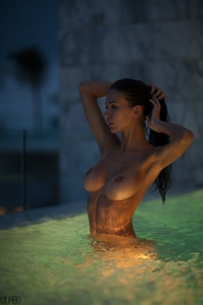 amateur photo In the water