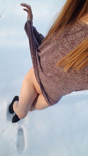 amateur photo Original ContentNo snow pants, oh well...