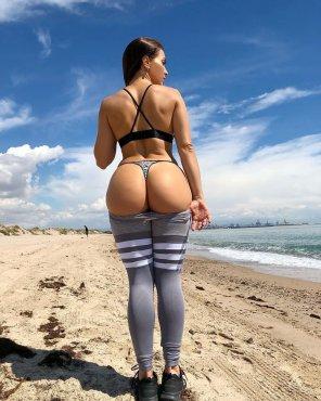 amateur photo Beach booty