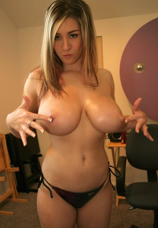 Big Juggs Teen Pierced Nipples