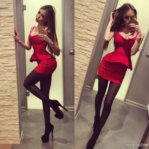 amateur photo PictureRed Dress and amazing heels