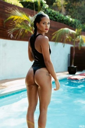 amateur photo Slick swimwear