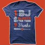 1 BJ is better than 9 Yanks