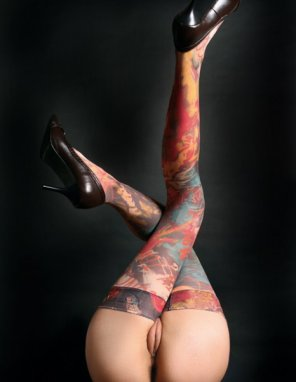 amateur photo Painted Stockings