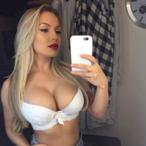 amateur photo White bra