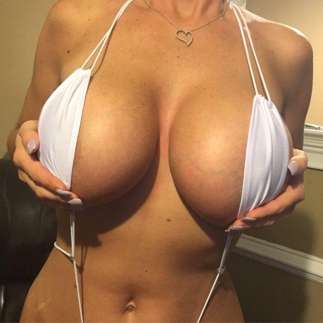 White Sling Bikini Porn Photo