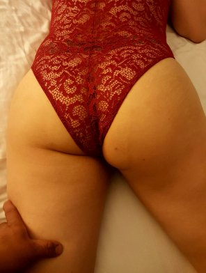 amateur photo How do you like my lingerie?