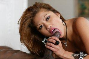 amateur photo Taking a lick