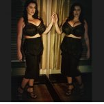 amateur photo Leanne in black