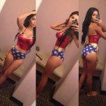 amateur photo PictureDressed as Wonderwoman
