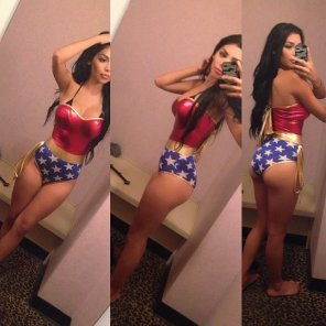 amateur photo PictureDressed as Wonderwoman