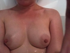 amateur photo Just a little pre-work pic for Titty Tuesday