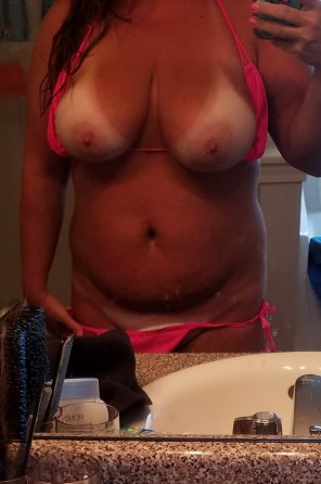 amateur photo IMAGE[Image] Mr. Mod wanted some tanline titties 😘 Hope you all enjoy!