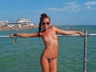 Girl at Beach.