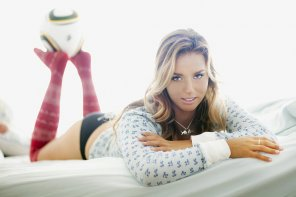 amateur photo Sally Fitzgibbons in red socks.