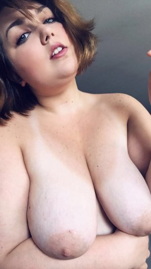 amateur photo My tits need a good sucking. How many volunteers can I get? ;) [F]