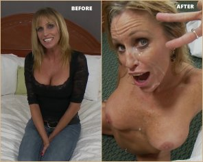 amateur photo Jessie, 50yr Old Mom - Before & After her 1st porn shoot!