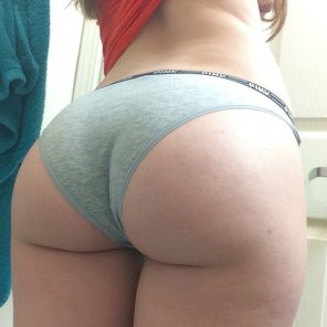 amateur photo Grey underwear