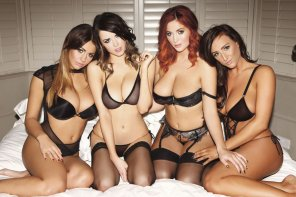 amateur photo Holly Peers, Danielle Sharp, Lucy Collette and Stacey Poole