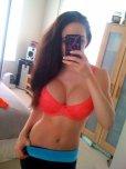 amateur photo Brunette selfie