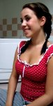 amateur photo Pigtails and polka dots