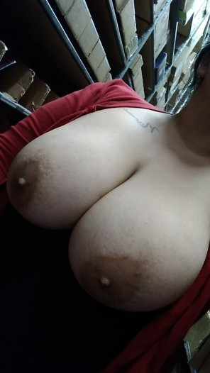 amateur photo Fucking around at work