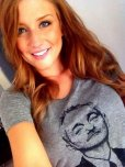 amateur photo Pretty Girl with a epic T-Shirt