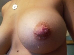 amateur photo Just one nipple, singular- if you want to get technical