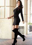 amateur photo Black dress and boots