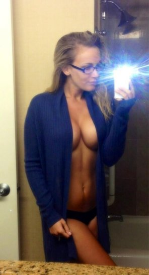 amateur photo Blonde With Glasses