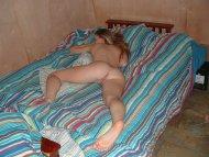 amateur photo Sleeping on Stripes