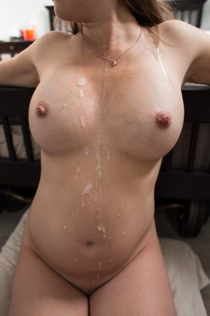 amateur photo Spilled some tapioca on her