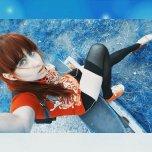 amateur photo Cute red-headed skater chick with gorgeous blue eyes