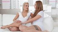 Sensual lesbian lovemaking by Cecilia Scott and Lulu Love