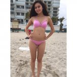 amateur photo Gorgeous Asian Teen in Pink Bikini