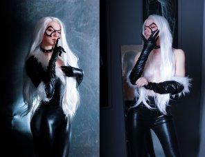black cat porn