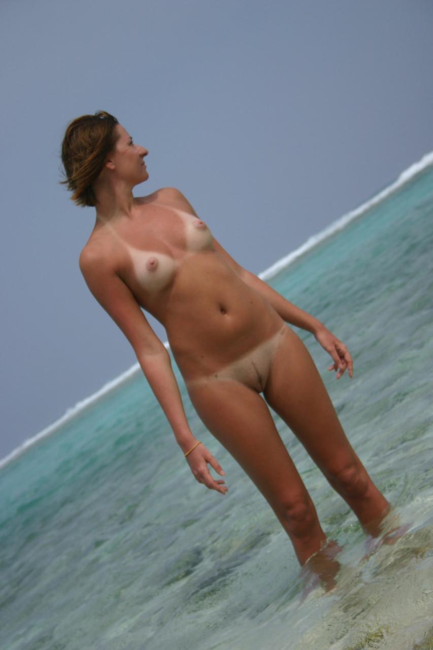 Milf beach naked Hot Milf