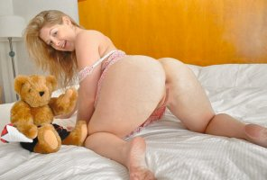 amateur photo Sweet Blonde And Teddy