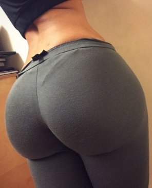 amateur photo Plump Ass In Grey