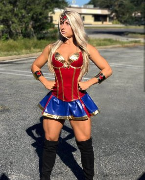 amateur photo Carriejune Bowlby as Wonder Woman