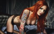 amateur photo Tattooed redhead